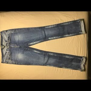 Lucky brand distressed bootleg jeans